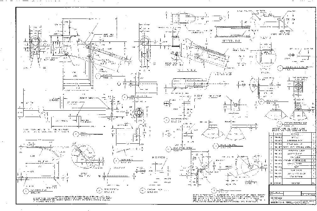 6 Pages Of 2x3 Blueprints For Highwall For Sale At