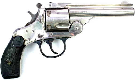 Harrington & Richardson Arms - Co., AUTOMATIC 3rd Model, DA .38 S&W Nickel - Picture 1