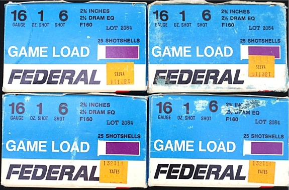 100 rounds Federal 16 ga. shot shells # 6 lead - Picture 1