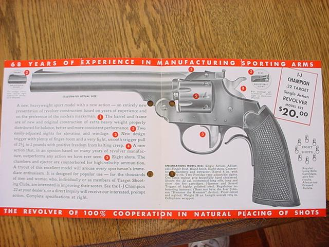 Iver Johnson Champion .22 revolver brochure 822 - Picture 2
