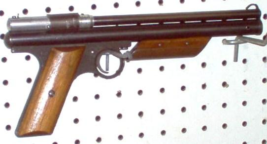 Crosman 130  .22 cal. side cock,  wood grips - Picture 1
