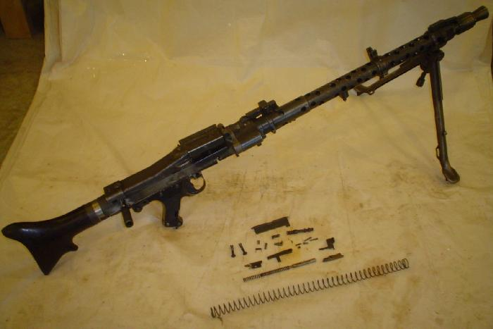 - German WWII MG34 Parts Kit with De-milled Rec - Picture 1