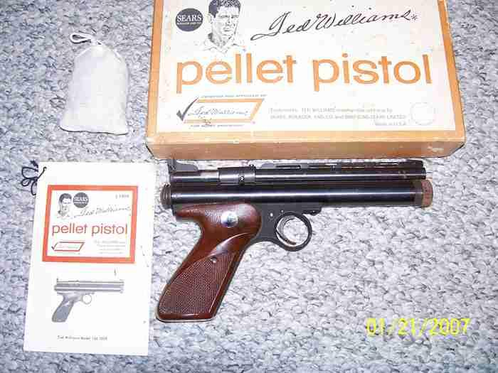 Ted Williams Match pistol  CO2, 22 cal.