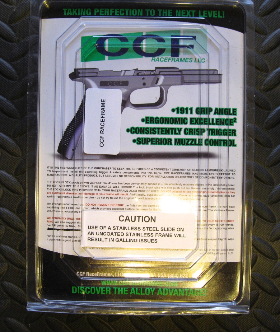 CCF Race Frames - Glock 17/22/24/31/34/35 & 37 - Picture 2