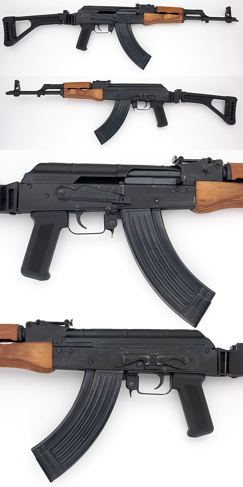 russian romanian ak 47 wasr 10 semi automatic rifle folding stock for sale at gunauction. Black Bedroom Furniture Sets. Home Design Ideas