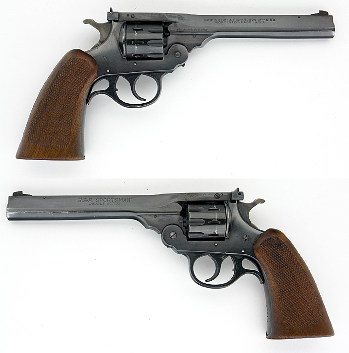 HARRINGTON & RICHARDSON H&R - SPORTSMAN DOUBLE ACTION .22 LR REVOLVER C&R OK - Picture 1