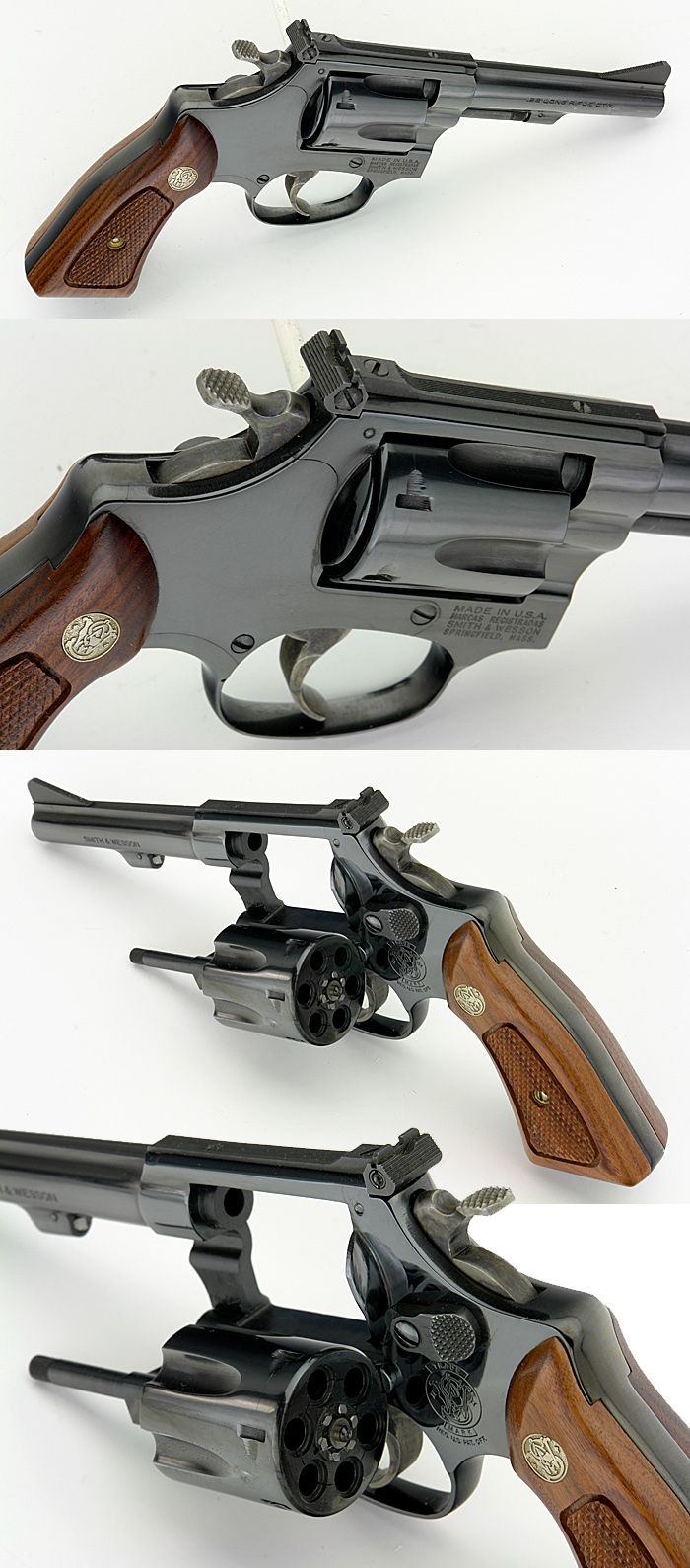 SMITH & WESSON S&W - MODEL 34-2 REVOLVER .22 LONG RIFLE 4 INCH BARREL - Picture 2