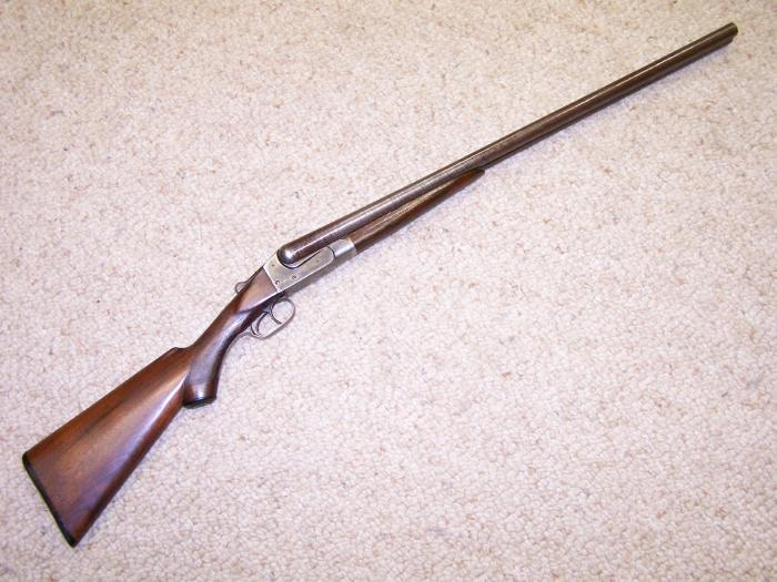 ITHACA HAMMERLESS, 12 GA, - LEWIS MODEL, 1901-1906, DAMASCUS BBLS, C&R OK - Picture 1