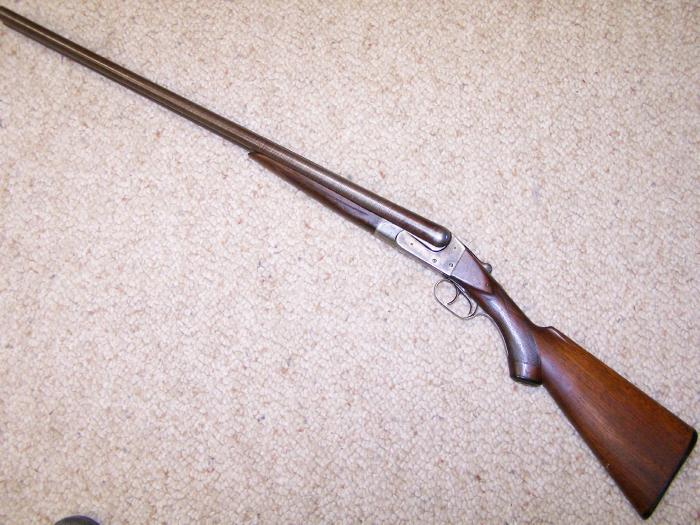 ITHACA HAMMERLESS, 12 GA, - LEWIS MODEL, 1901-1906, DAMASCUS BBLS, C&R OK - Picture 5