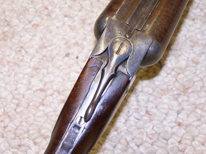 ITHACA HAMMERLESS, 12 GA, - LEWIS MODEL, 1901-1906, DAMASCUS BBLS, C&R OK - Picture 8