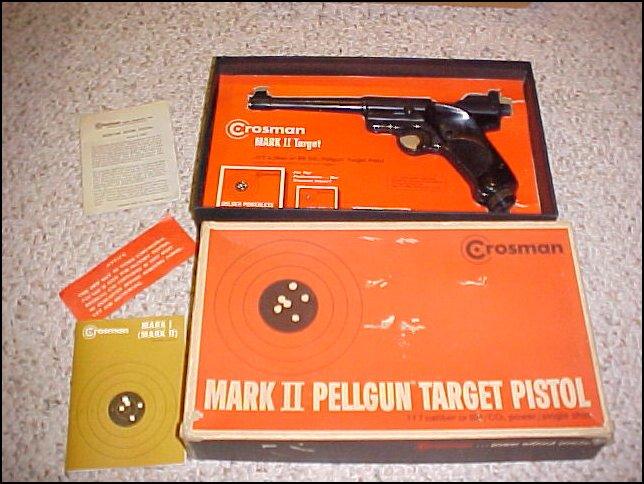 CROSMAN MARK II PELLGUN TARGET PISTOL .177 w/BOX