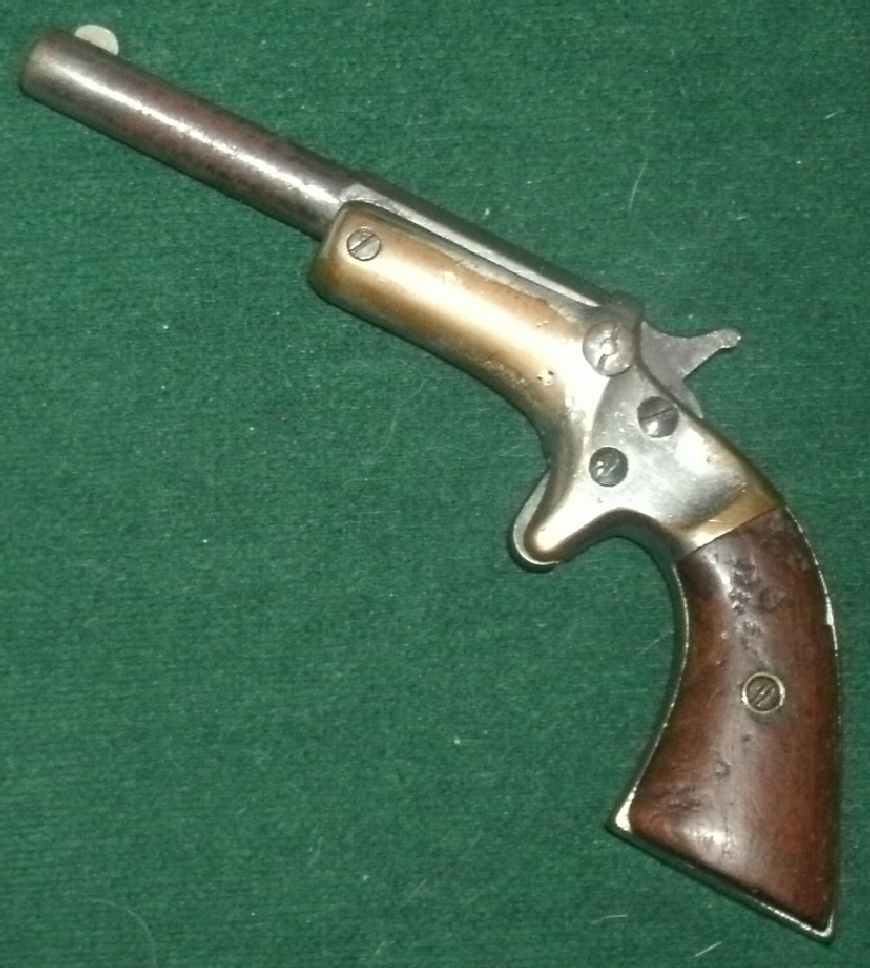 Stevens - Stevens Brass frame Single-shot .22 tip-up pistol - Picture 1
