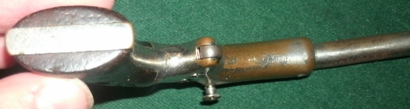 Stevens - Stevens Brass frame Single-shot .22 tip-up pistol - Picture 5