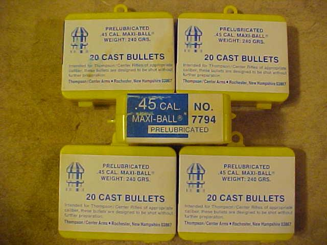 Thompson Center T/C 45 Cal Maxi-Ball Bullets NOS - Picture 1