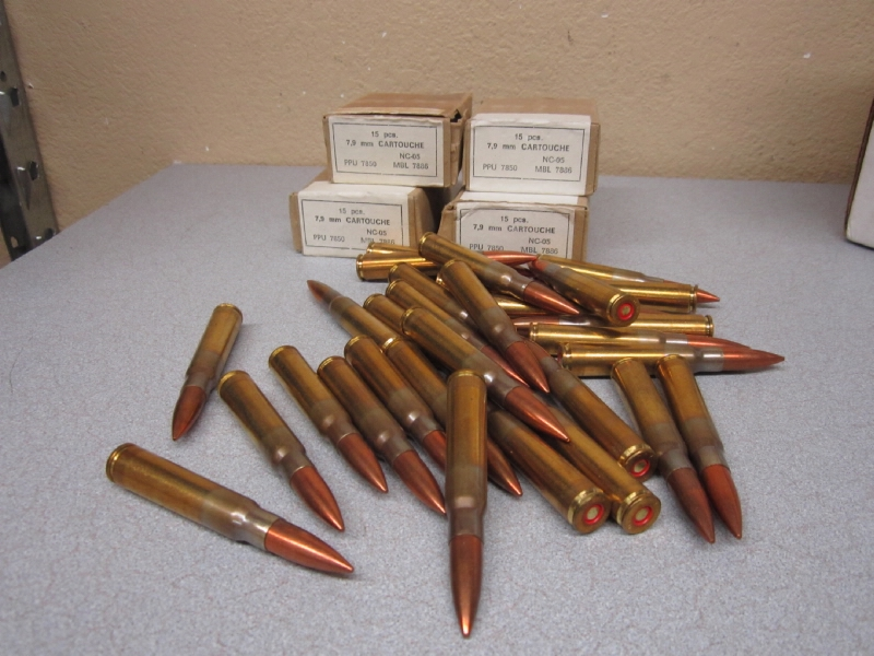 7.9mm MAUSER AMMUNITION 90 ROUNDS NO RESERVE PRICE - Picture 1