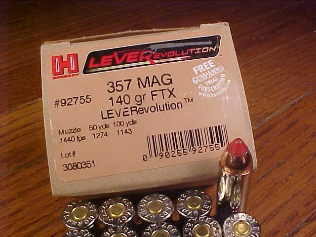 Box of Hornady LEVERevolution .357 Magnum FTX - Picture 2