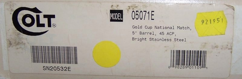 Colt - Gold Cup Nat Match Bright Stainless Enhanced 45acp - Picture 8
