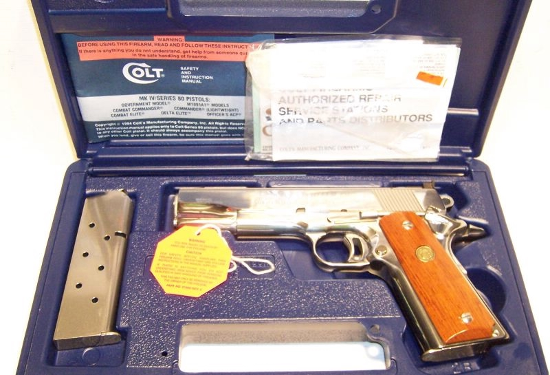 Colt - Gold Cup Nat Match Bright Stainless Enhanced 45acp - Picture 1