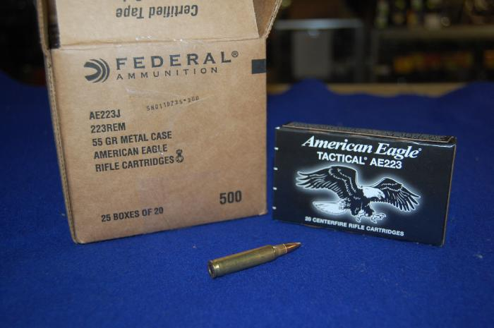 500 Rounds of Federal American Eagle Tactical 223 - Picture 1