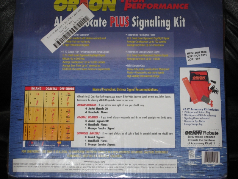 ORION FLARE GUN/SIGNALING KIT-NEW IN BOX - Picture 10