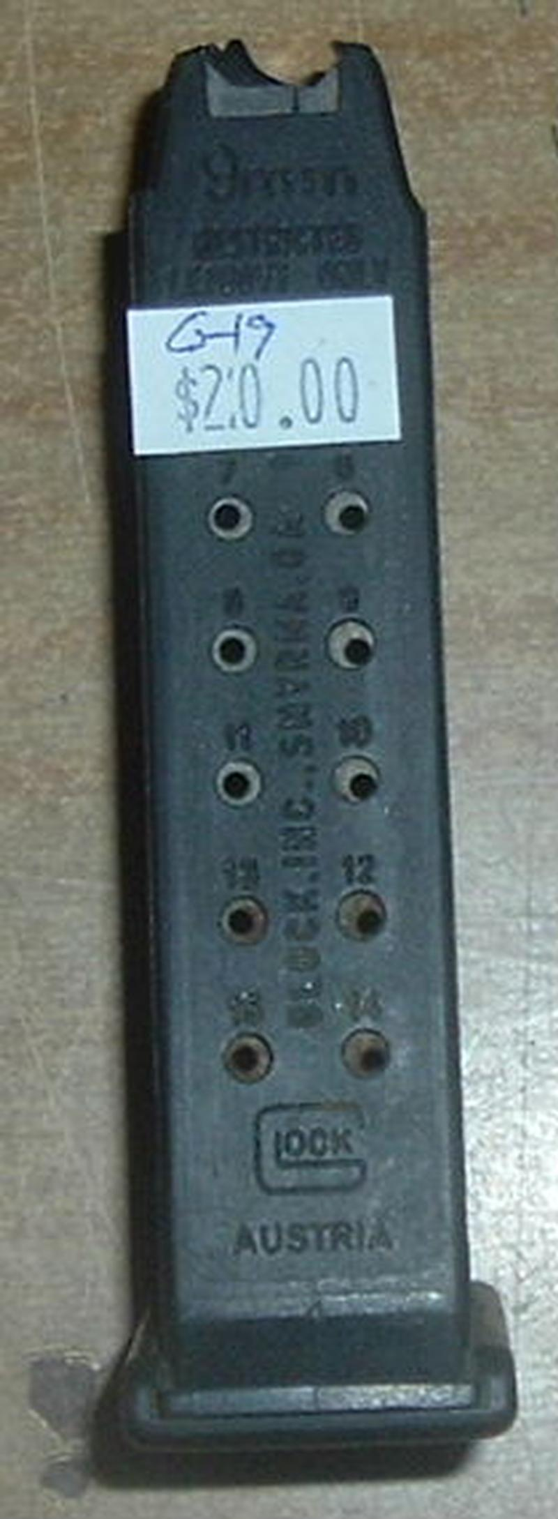 Factory 15 Rd. Mag for Glock 19 9mm - Picture 1