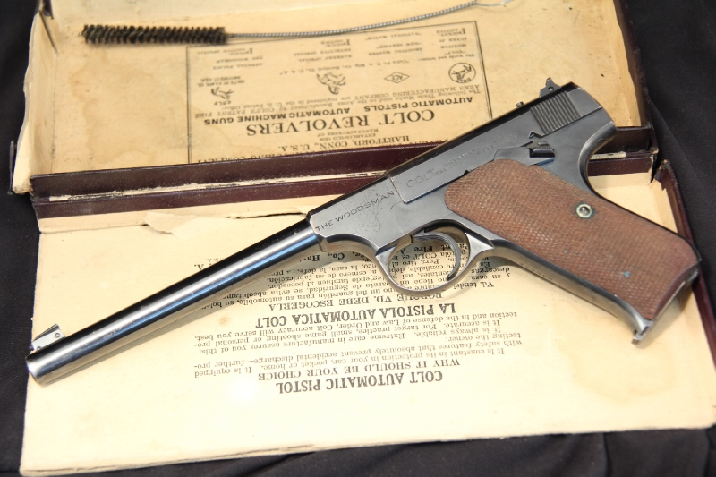 Colt Woodsman Pre-War .22 LR - Semi Auto Pistol - 1940 C&R Ok - In The Box - Picture 6