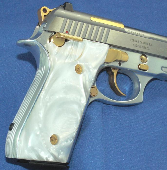 Taurus - PT 92 9MM STAINLESS PISTOL GOLD ACCENTS ACC. RAIL - Picture 6