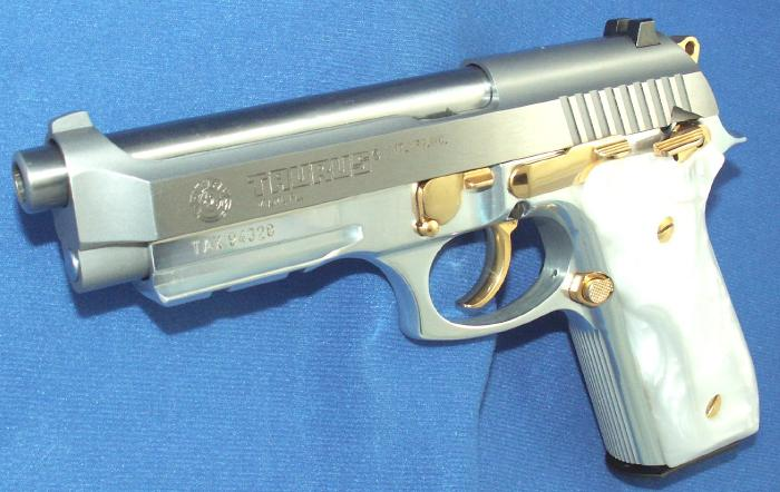 Taurus - PT 92 9MM STAINLESS PISTOL GOLD ACCENTS ACC. RAIL - Picture 10