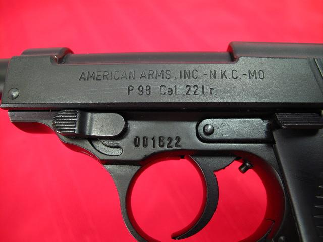 AMERICAN ARMS - Model P98 - .22 LR....P-38 Look-alike...Excellent Condition!! - Picture 4