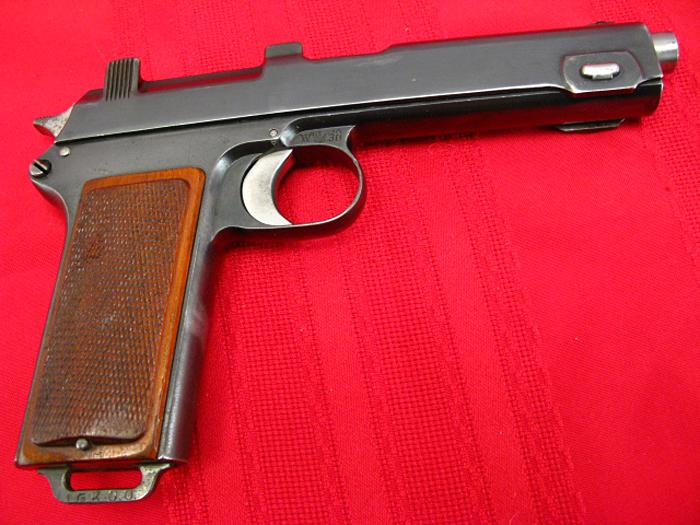 STEYR HAHN - Model 1912  WWII - NAZI POLICE E/L...9mm Para...Matching, Non-Import! - Picture 2