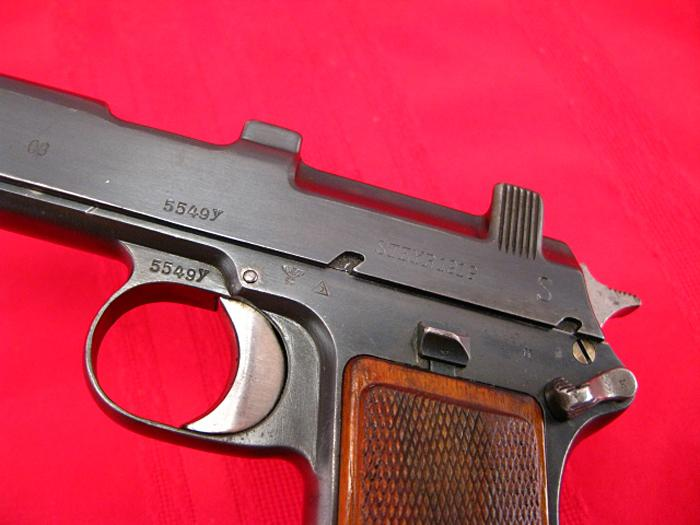 STEYR HAHN - Model 1912  WWII - NAZI POLICE E/L...9mm Para...Matching, Non-Import! - Picture 5