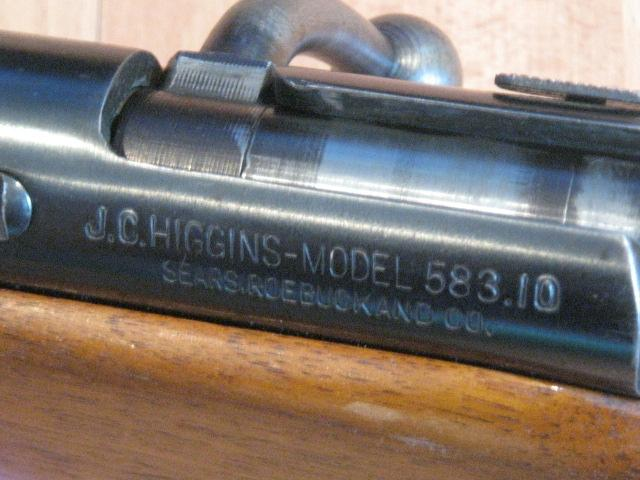 J.C. HIGGINS JC Higgins Model 583.10 Bolt Action 12 Gauge